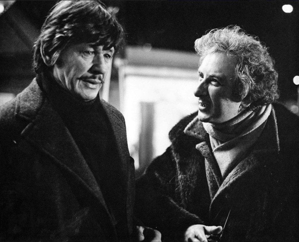 À New York avec le réalisateur Michael Winner, pendant le tournage.